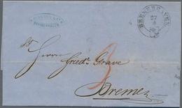 Bremen - Vorphilatelie: 1815/1870 (ca.), Nette Partie Von 28 Meist Markenlosen Belegen Bzw. Einem Po - Duitsland