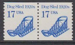 USA 1986 Dog Sled 1v (pair) ** Mnh (43129H) - Verenigde Staten