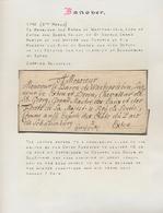 Hannover - Vorphilatelie: 1740/1856, Kleine Sammlung Von Elf Markenlosen Briefen Auf Albenblättern ( - Duitsland
