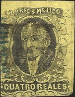 J) 1861 MEXICO, HIDALGO, 4 REALES, DISTRICT CHIAPAS, MN - Mexico