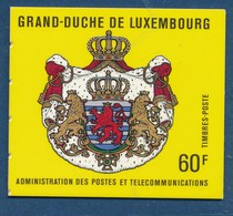 LUXEMBURG Markenheft Mi. 2 Postfr. Wappen Löwe - Booklets