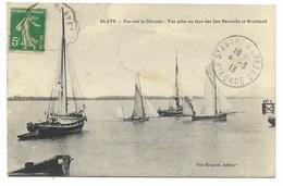 33-BLAYE-Vue Sur La Gironde - Vue Prise En Face Des Iles Nouvelles Et Bouchaud...1913  Animé - Blaye