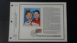 """BD: FEUILLET D'ART """"Bob Et Bobette """" TRÈS RARE TIRAGE 3475 EXEMPLAIRES.  TIMBRE NUMÉRO - FDC"""