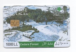Cedars Forest 2009 Used Phonecard  Lebanon , Liban  Libano - Lebanon