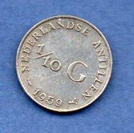 Antilles Néerlandaises  - 1/10 Gulden 1959   -  Km # 3 -  état  TTB - [ 4] Colonies