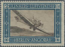 Deutsches Reich - Halbamtliche Flugmarken: 1924/1933, Lot Mit Zwei Marken: 2 GM Junkers-Marke 1924 P - Luftpost