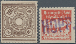 Deutsches Reich - Privatpost (Stadtpost): 1880/1900 Ca., Gehaltvoller Sammlungsbestand Mit über 150 - Privé