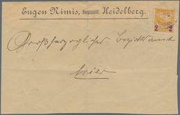Deutsches Reich - Privatpost (Stadtpost): 1890, HEIDELBERG Privatpost, 2 Auf 10 Pf Gelborange (MiNr. - Privé