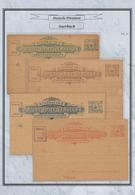 Deutsches Reich - Privatpost (Stadtpost): AUERBACH, Auf Blättern Montierte Sammlung Von 30 Verschied - Privé