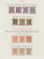 Deutsches Reich - Privatpost (Stadtpost): HAMBURG, Hammonia I, Stadtbriefbeförderung 1886/1889, Teil - Privé