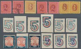 Deutsches Reich - Privatpost (Stadtpost): WIESBADEN, Sammlung Von 358 Marken Einschließlich Dublette - Privé