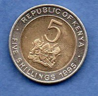 Kenya - 5 Schillings 1995    -  Km # 30 -  état  SUP - Kenya