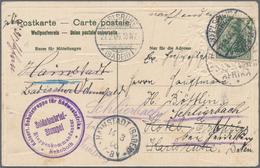 Deutsch-Südwestafrika: 1905/1907, Vier Ansichtskarten (einmal Beschnitten) Und Zwei Umschläge Alle A - Kolonie: Duits Zuidwest-Afrika