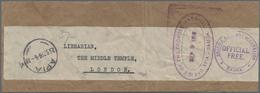 Deutsche Kolonien - Samoa - Britische Besetzung: 1914/1916, Lot Von Drei Ganzstücken: Rückschein Für - Kolonie: Samoa