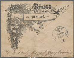 Memel: 1830/1941 (ca.), Vielseitige Partie Von Ca. 45 Briefen Und Karten (weniger Das Eigentliche Sa - Memel