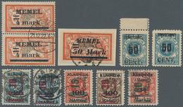 Memel: 1920/1923, Partie Mit 29 Postfrischen/ungebrauchten Und Gestempelten Marken, Meist Mit Aufdru - Memel