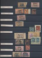 Memel: 1920/1923, Stempel-Spezialsammlungspartie Von AGLOHNEN Bis WISCHWIL, Zusätzlich Bahnpost Und - Memel