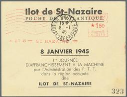 Dt. Besetzung II WK - Frankreich - St. Nazaire: 1945, Hochwertige Sammlung Mit 9 Belegen, Dabei MiNr - Bezetting 1938-45