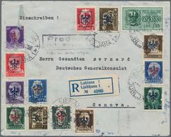 Dt. Besetzung II WK - Laibach: 1944 - 1945, Kleiner Posten Von 8 Belegen, Dabei Zeitungsschleife, Zw - Bezetting 1938-45