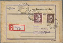 Dt. Besetzung II WK - Ostland: 1941/1944, Ca. 40 Belege überwiegend Ostland Mit Deutscher Dienstpost - Bezetting 1938-45
