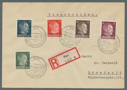 Dt. Besetzung II WK - Ostland: 1941/1944, Schöne Sammlung Von Ca. 200 Belegen Im Album, Dabei Einsch - Bezetting 1938-45