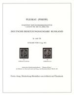 Dt. Besetzung II WK - Russland - Pleskau (Pskow): 1941-1942, Hochwertige Spezialsammlung Mit Fast Nu - Bezetting 1938-45