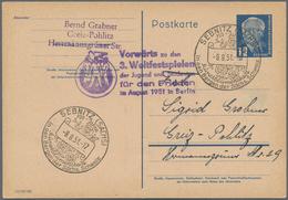 DDR - Ganzsachen: 1949/1991, Vielseitiger Bestand Von über 630 Ganzsachen Mit Karten, Antwortkarten - [6] Oost-Duitsland