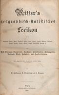 """Philatelistische Literatur - Atlanten Und Karten: 1855, """"Ritter's Geographisch - Statististisches Le - Fachliteratur"""