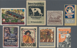Vignetten: 1890/1918, Cinderellas, Werbemarken, Umfangreicher Posten Von Ca. 425 Vignetten, Meist De - Vignetten (Erinnophilie)