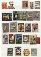 Vignetten: 1900 - 1940 (ca.), Große Sammlung Von über 1.500 Vignetten Für Firmen Und Institutionen I - Vignetten (Erinnophilie)