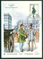 19/6 France Carte Maximum Card Poste Facteur Second Empire Journee Du Timbre 1967 - Poste & Facteurs
