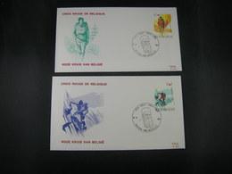 "BELG.1983 2082 & 2083 FDC's ( Brus ): "" Croix Rouge / Rode Kruis "" - 1981-90"