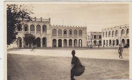 Djibouti - Place Ménélick - Carte Photo - Affranchissement Intéréssant - 1936    (190612) - Gibuti