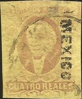 J) 1861 MEXICO, HIDALGO, 4 REALES, DISTRICT MEXICO, CIRCULAR CANCELLATION, MN - Mexico