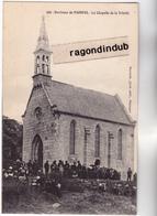 CPA - 22 - PAIMPOL - La Chapelle De La Trinité Un Jour De Sortie De Messe Ou Procession Probablement - CARTE RARE Bel ét - Paimpol