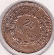 Jeton Bordel à L'éffigie Du 20 Francs Or Génie. Laiton Fourré - Brothel Tokens