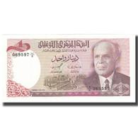 Billet, Tunisie, 1 Dinar, 1980, 1980-10-15, KM:74, NEUF - Tunisie