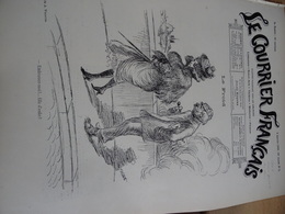 Le Courrier Français 1899 Willette Menu Ancien Poule Au Pot ,Jules Grun, René Péan Veronique - Revistas - Antes 1900