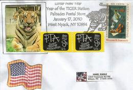 USA. Le Tigre, Année Lunaire,  Enveloppe Souvenir West Nyack ,  New-York - Chinees Nieuwjaar