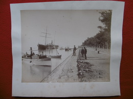 EGYPTE SUEZ PAQUEBOT A QUAI PHOTO ZANGAKI CIRCA 1880 SUPERBE - Old (before 1900)