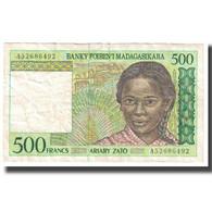 Billet, Madagascar, 500 Francs = 100 Ariary, KM:75a, TTB - Madagascar