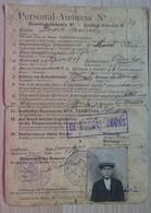 """Villers Le Bouillet - 1916 """"Laissé Passé Allemand """" Personal-Ausweis""""- Homme Né En 1899 - 2scans - Documents"""