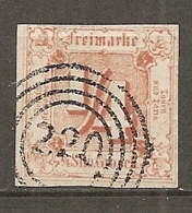 T Et T - Yv. N° 7, Mi. N°13 (o)  1/4s Jaune-orange Etats Du Nord Cote  50 Euro  BE    2 Scans - Thurn Und Taxis