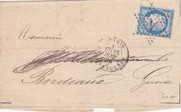 58 - CERES 60  - PARIS  A  BORDEAUX - Postmark Collection (Covers)