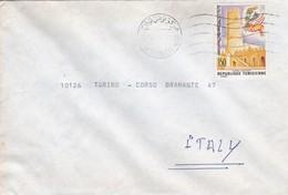 BUSTA VIAGGIATA - TUNISIA  - VIAGGIATA PER TORINO / ITALIA - Tunisia (1956-...)