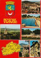 1 Map Of France * 1 Landkarte Vom Département Haute-Saône Und Ansichten Von Vesoul Hauptort Des Départements Haute-Saône - Landkarten