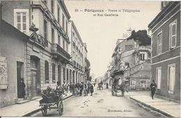 CPA 01 - DORDOGNE -  PERIGUEUX  Postes Et Télégraphe Rue Gambetta- Animations - Autres Communes