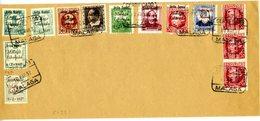 MALAGA LIBERADA   Carta Con  13 Sellos  EL321 - Emisiones Nacionalistas