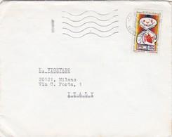 BUSTA VIAGGIATA - TUNISIA  - ETABLISSEMENTS DJARRAR  - GALLOUL E CIE - IMPORT - VIAGGIATA PER MILANO / ITALIA - Tunisia (1956-...)