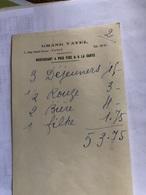 Facture Du Grand Vatel à Nancy (année 1938) - France